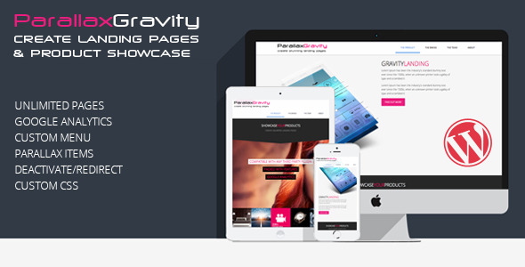 Parallax Gravity - Landing Page Builder
