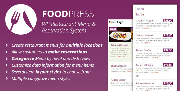 foodpress - Restaurant Menu & Reservation Plugin