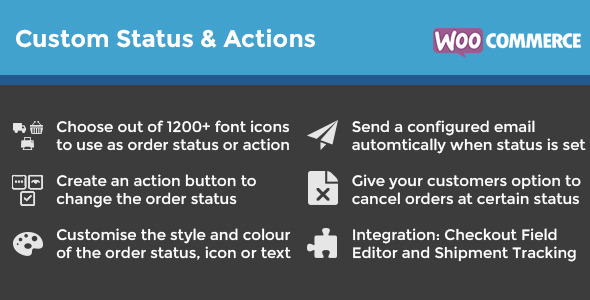 WooCommerce Custom Order Status & Actions
