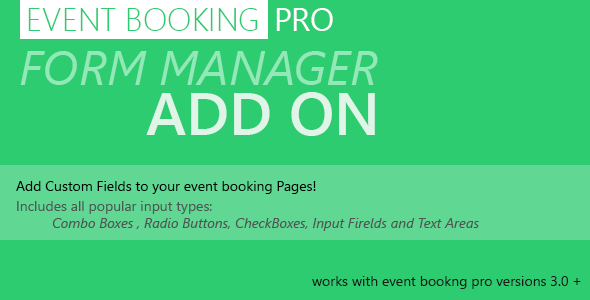 Event Booking Pro: Forms Manager